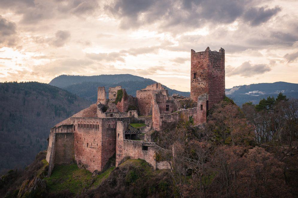 Châteaux de Ribeauvillé lors d'une randonnée