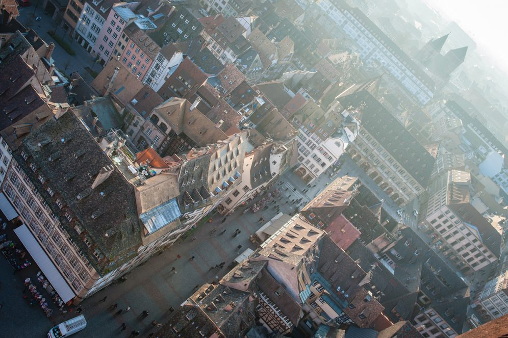 Terrasse panoramique Panorama terrasse Cathédrale ville de Strasbourg Goldenour