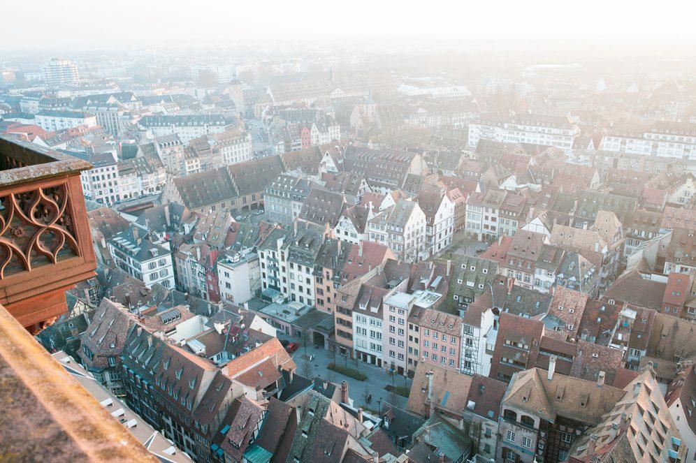 Terrasse panoramiquePanorama Cathédrale ville de Strasbourg Goldenour